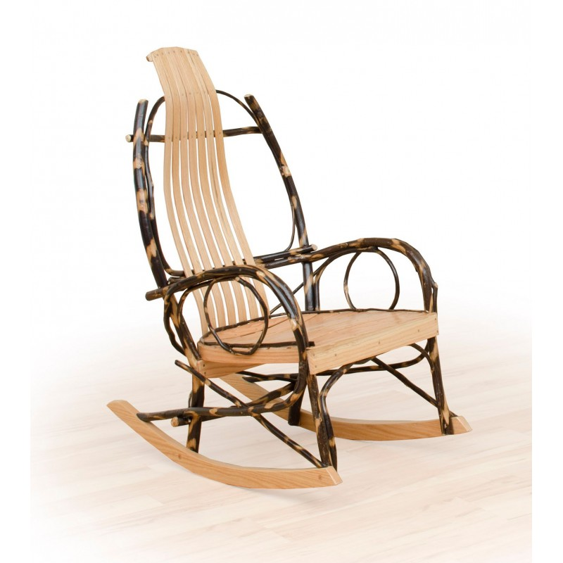 Delicieux 2 Rustic Hickory And Oak Rockers   Twig Arms