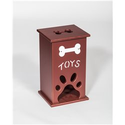 Medium Pet Toy Box with Paw Cut Out