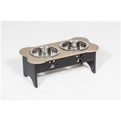 Poly Lumber Wood - Medium Double Dog Bone Dish - 2 Quart