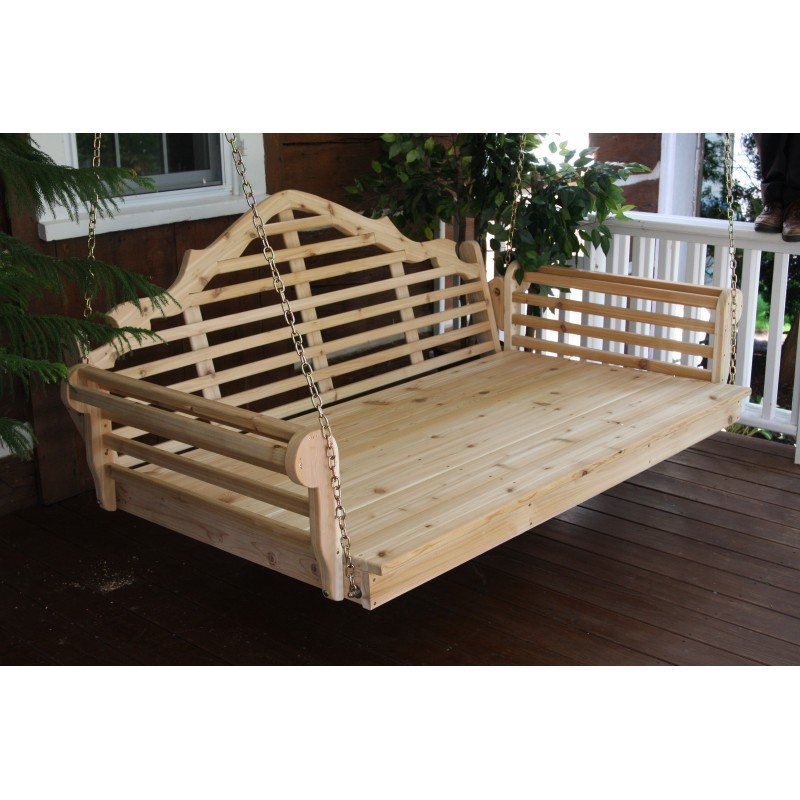 6 Ft Painted Stained Pine Marlboro Porch Swing Bed Unfinished