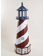 Garden accent lighthouses with real working lights!
