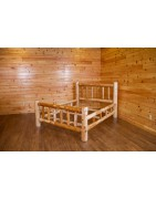 Indoor White Cedar Log Furniture