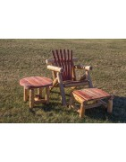 Outdoor Red Cedar Log Furniture