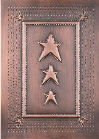 Embossed Star in Copper