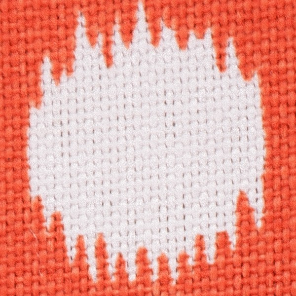 Orange Ikat Dot